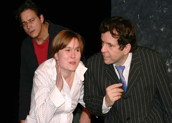 Szenarium 2002 im Theater im Burgbachkeller in Zug. Auf dem Bild Reto Barmettler, Erwin Beetschen